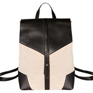 NEW Deux Lux Demi Backpack Cream Black